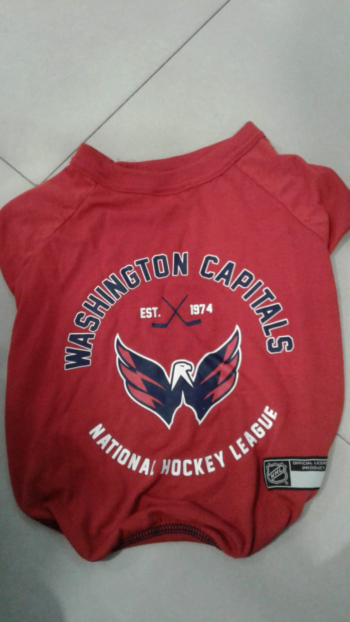 "ropa para mascota ""washington capitals"""